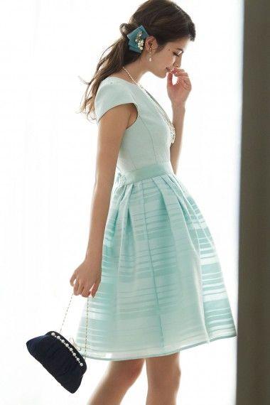 ジャガード×オーバースカート付き2wayドレス - 「AIMER(エメ)公式通販サイト|パーティー・結婚式ドレスで人気」