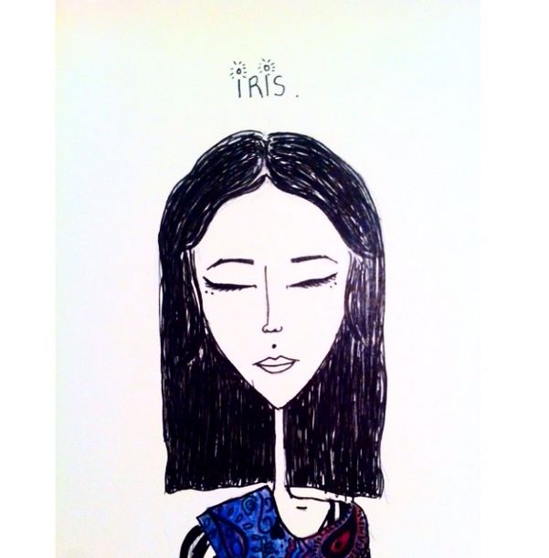 "the first version, ""iris""  #art #illustration #drawing #draw"