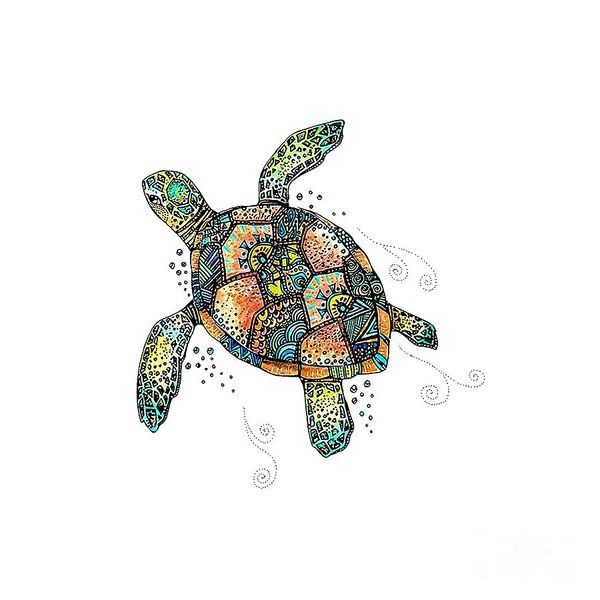 Sea Turtle Watercolor Wall Art Digital Art Turtle By Sisy