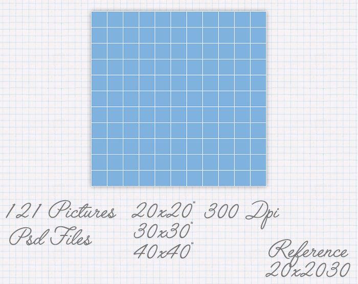 Plantilla collage de 20x20 30x30 40x40 pulgadas (121 fotos) ref 20x20030 de JuanmiDesigns en Etsy