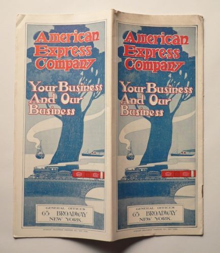 American Express Company Your Business and Our Business May 1905 Maps