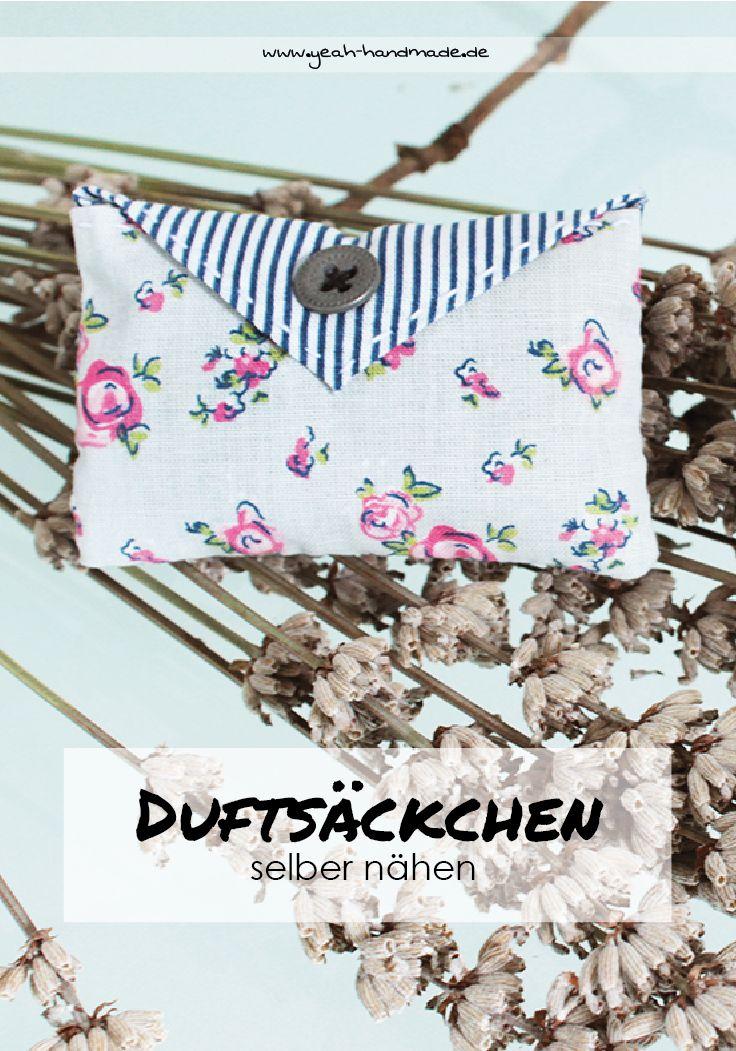 Lovely DIY Dufts ckchen in verschiedenen Formen selber n hen und mit Lavendel f llen f r den Kleiderschrank oder