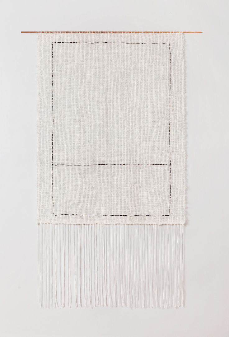 'Two Rectangles' weaving by Brook & Lyn