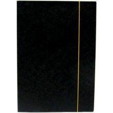 Irattartó mappa gumis - Fekete - Iratgyűjtő A4 mappa - Fornax Glossy 400 gr Ft Ár 139 Papír gumis irattartó mappa - Fekete - A4 iratgyűjtő 400 gr  A gumis irattartó mappa előnye, hogy nem szükséges a lapokat tűzni vagy lyukasztani. A három pólya behajtásával a mappába helyezett iratok, dokumentumok nem csúsznak ki, így nem kell tartani azok elvesztésétől vagy sérülésétől.  A4-es méretü iratoknak, papírlapoknak és füzeteknek is alkalmas Egy oldalon gyors gumis nyitás, zárás 4 fokozatban…