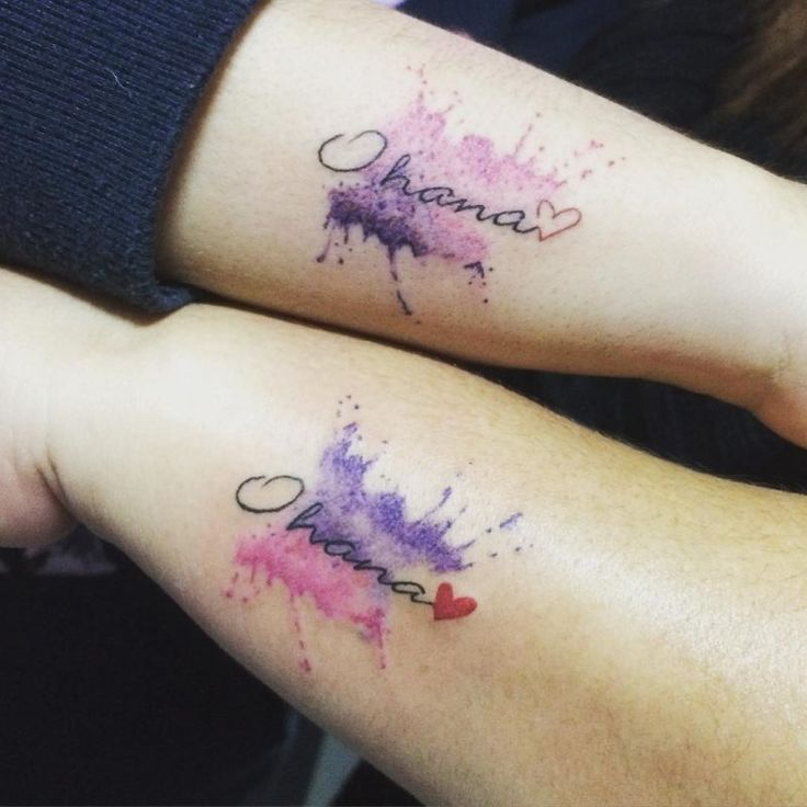Geschwister Tattoo - 34 Ideen für Tattoo mit oder ohne Blutsverwandtschaft - Tattoos - ZENIDEEN | Geschwister tattoo, Ohana-tätowierung, Geschwister tattoos