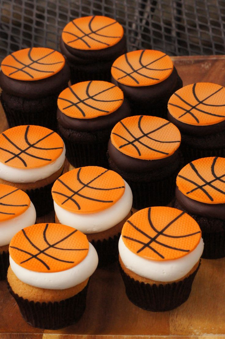 Basketball cupcakes                                                                                                                                                                                 More