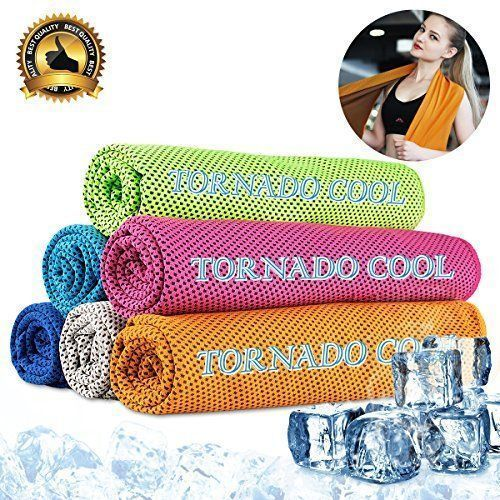 "Cooling towel cooling scarf cooling headband cooling bandana instant cooling towel for travel camping gym yoga tennis running golf biking hiking sports workout fitness Pilate 12""x33""(Orange) #tennisworkout #bikingworkoutgym"