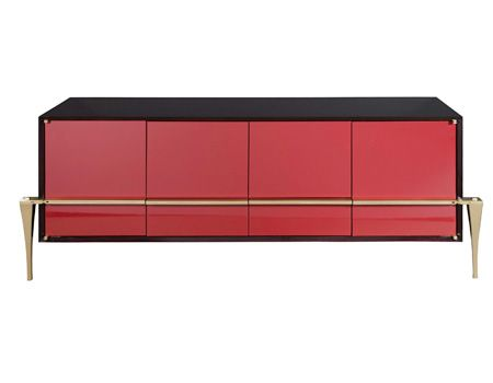 surprising modern living room credenza | RED SIDEBOARD| Cosmopolitan Credenza for a modern living ...