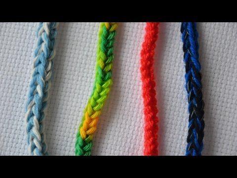 Как связать шнур крючком. Easy crocheted i-cord . Обсуждение на LiveInternet - Российский Сервис Онлайн-Дневников