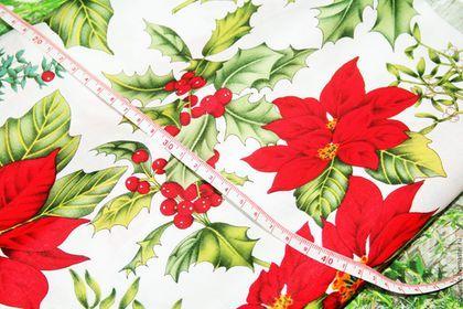 США Новогодняя Рождественская ткань для пэчворка
