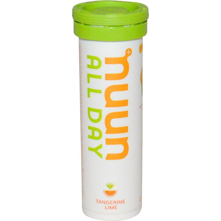 Nuun Hydration, Vitamin Enhanced Drink Tabs, All Day, Tangerine Lime, 15 Tabs