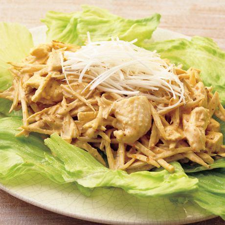 ごぼうごまマヨネーズサラダ   若山曜子さんのサラダの料理レシピ   プロの簡単料理レシピはレタスクラブネット