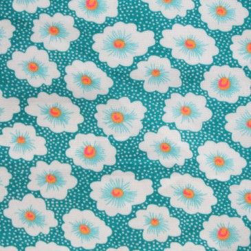 Boutique Petit Pan - Tissus - Petit Pan: Osami Turquoise, Turquoise Petite, Coated Cotton, Coton Osami, Tissue Enduit, Fabrics Tissus, Petite Pancreatitis, Tissus Impressions, Enduit Osami