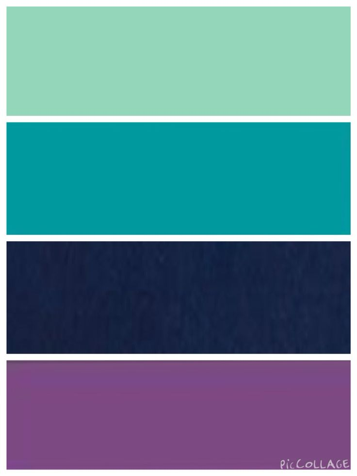 Mint Teal Navy And Purple Color Scheme