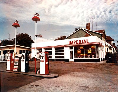 old gas stations | gas station 1958 service station bloor and glendonwynne toronto 1958 ...