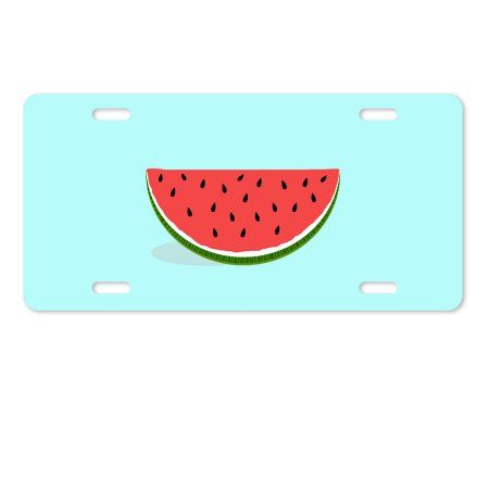 "License Plate Cover A Lovely Watermelon Aluminum Metal License Plate for Auto Accessory 6""X12""inches"