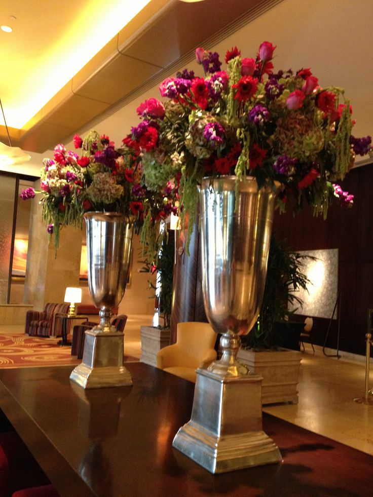 Hotel lobby flowers at hilton americas downtown houston
