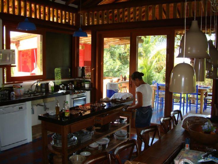 Aluguer de casa para férias Praia do Espelho - Cozinha integrada com a área social