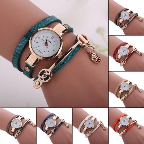 Fashion-Women-Leather-Wrap-Watch-Crystal-Analog-Bracelet-Quartz-Wristwatch-Gifts
