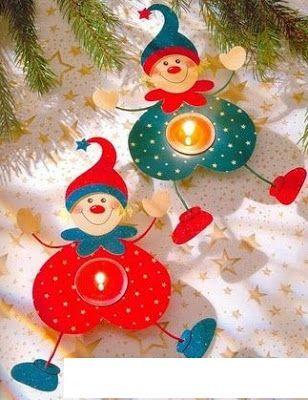 Christmas elf tea light holder - paper craft pattern