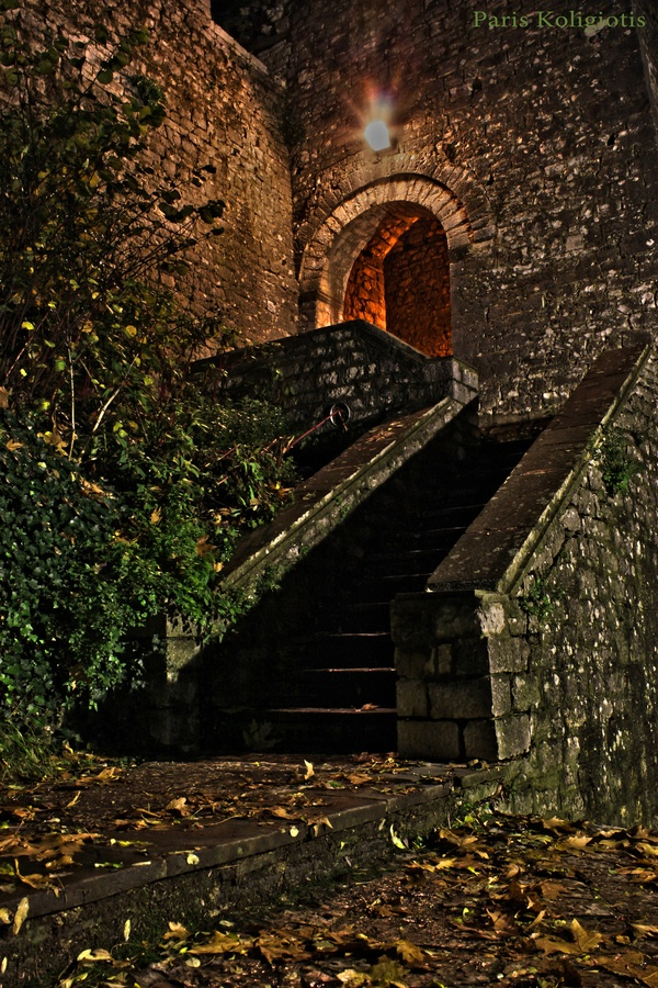 Door to Ioannina castle, Greece