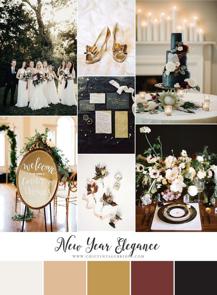 New Year Elegance Wedding Inspiration Board
