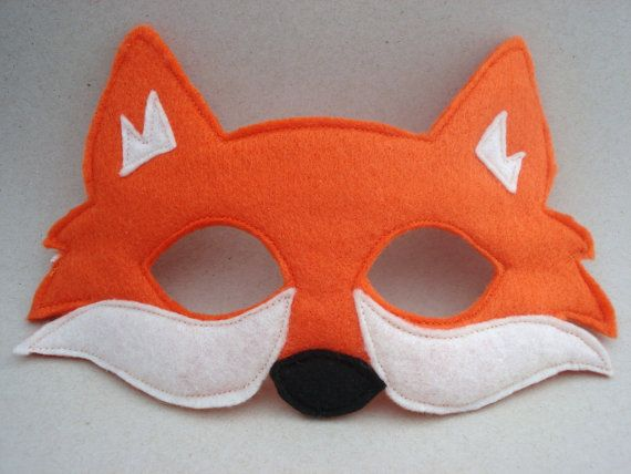 fantastic mr fox mask template fox mask orange fox woodland animal mask fox costume