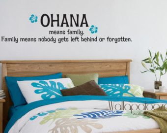 Delightful Ohana Means Family   Family Wall Decal   Family Room Decal   Lilo And Stitch  Wall