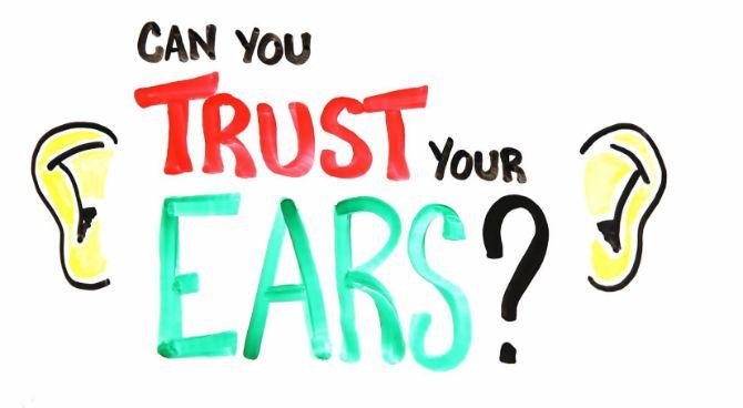 Illusioner för öronen, kan man verkligen höra i syne? #illusion #Obsid
