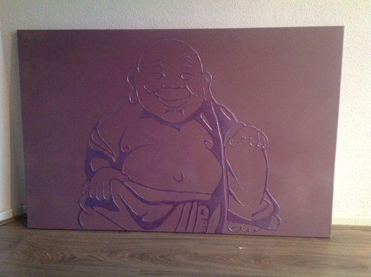 Houtlijm Boeddha schilderij