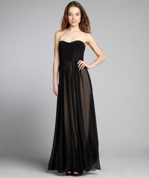 long black strapless evening dress Long Black Strapless Dress Prom for a Classic Formal Wear