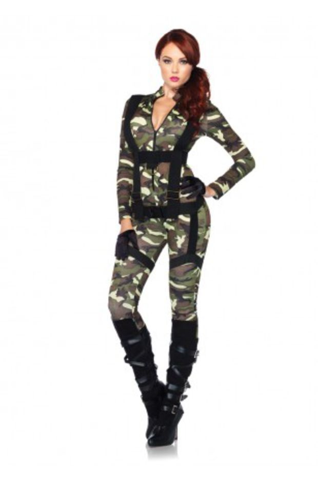 2 PC Pretty Paratrooper Costume @ Amiclubwear costume Online Store,sexy costume,women's costume,christmas costumes,adult christmas costumes,santa claus costumes,fancy dress costumes,halloween costumes,halloween costume ideas,pirate costume,dance costume,