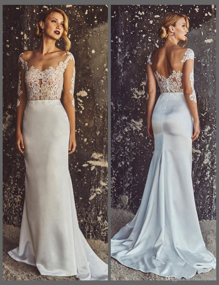 529 best 2017 beautiful beach wedding dresses images on for Chantilly lace wedding dress