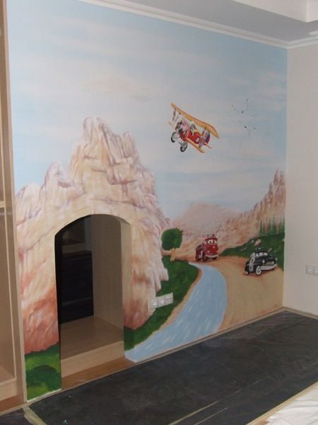 25 best images about wall murals on pinterest cloud for Diy mountain mural