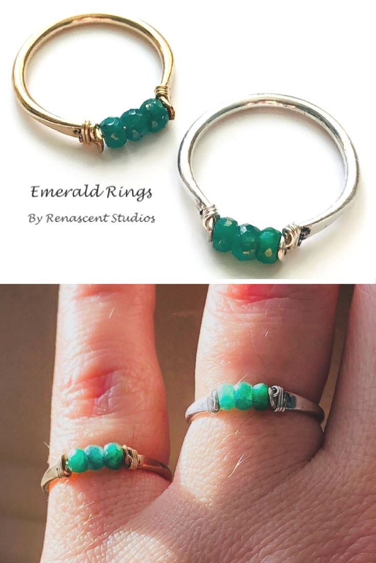 Happy New Year everyone! Here's something new and absolutely gorgeous! Emerald stacking rings, click the pic to check them out!