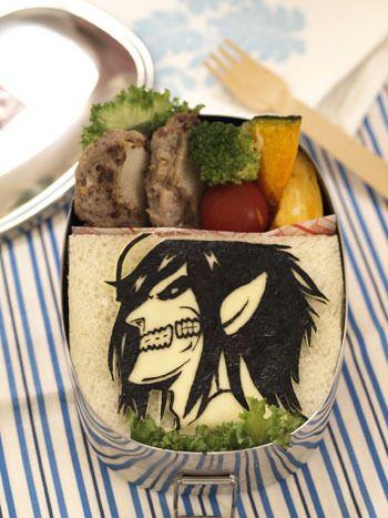 Titan Eren Jaeger Sandwich Bento~ || Attack on Titan Shingeki no Kyojin Eren Jaeger Titan Titans Lunch Food