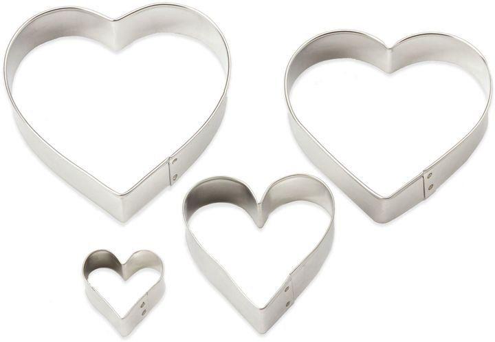 Bed Bath Beyond Ann Clark 4 Piece Heart Shaped Cookie Cutter Set Heart Shaped Cookie Cutter Heart Shaped Cookies Shaped Cookie