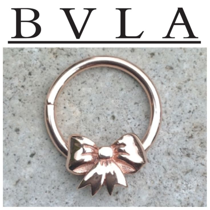 Just got this adorable fixed ring from BVLA :) it's 14 karat solid rose gold. It's perfect for septums, daiths, and helixes.