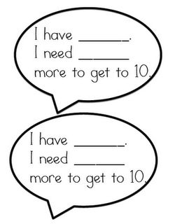 math talk cards...can use it with any number as the total...especially when adding 3-digit numbers and using open number lines to model.