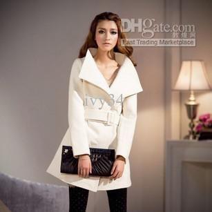 Wholesale Newly woolen medium-long wool coat cashmere womens fur collar woolen double botton, Free shipping, $41.42-53.1/Piece | DHgate