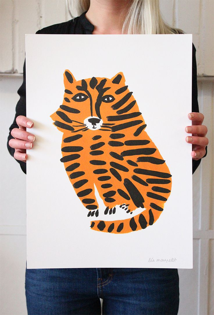 The tigre poster by Lea Maupetit from Baba Souk