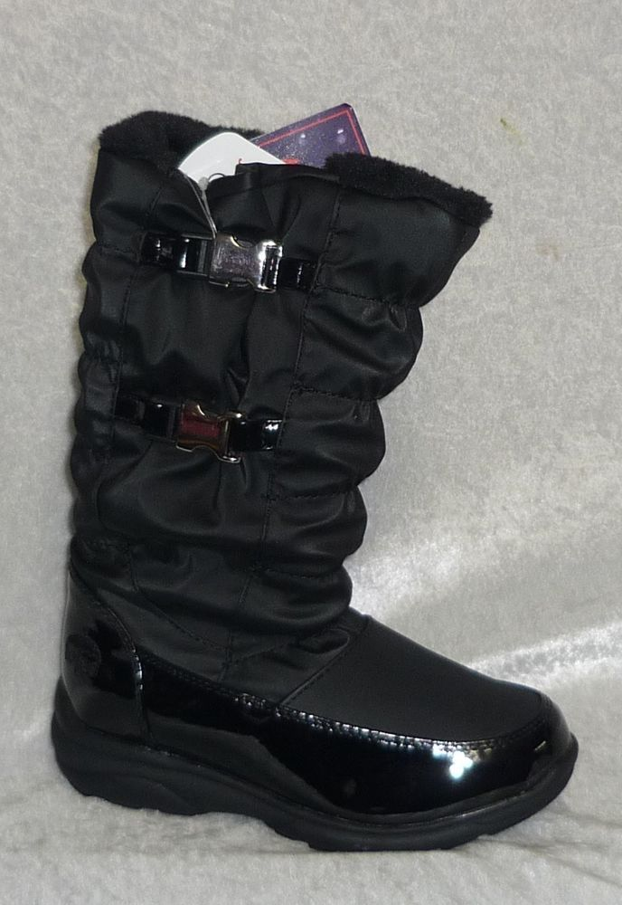 Totes Kimberly Waterproof Winter black Boots Girls kids size 11 ...
