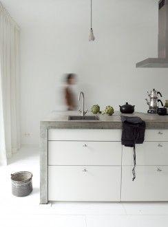 Vtwonen - keukenLeuk inspiratie beeld voor betonlookdesign.nl en molitli-interieurmakers.nl