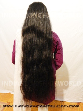 Long Hair Model of the Month October 2012. Darshana with her long, healthy & thick below thigh length hair...