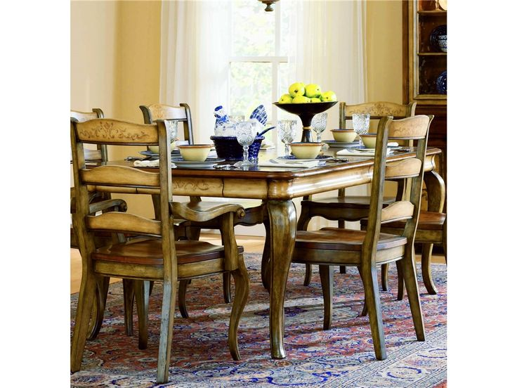 Hooker Furniture Dining Room Vineyard Rectangle Table W 2 18 Leaves