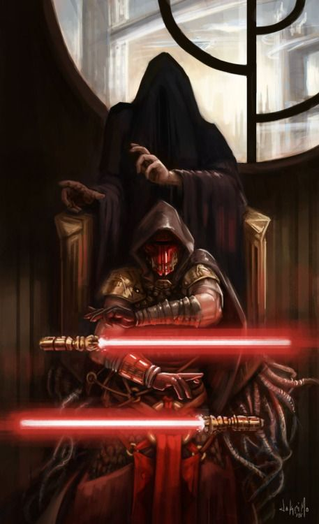 Darth Revan was one of the most powerful Sith Lords of all time.  He could wield multiple lighsabers at once using only The Force.   He was almost impossible to defeat in combat.
