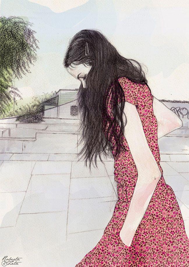 B1/C2- Imagina, escribe, cuéntame la historia de esta chica. Ilustración de Roberta Zeta.