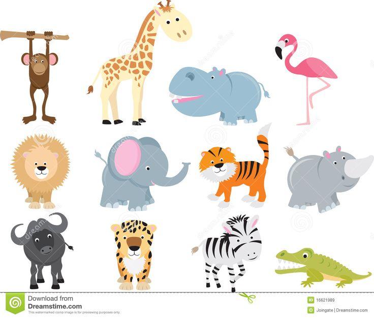 Baby Safari Animals Clip Art Cute Wild Safari Animal Wild Safari Animals Cartoon Animals Safari Animals