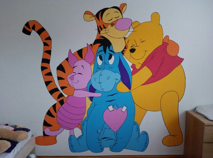 Pooh and friends, paintwork at playroom of my little princess.
