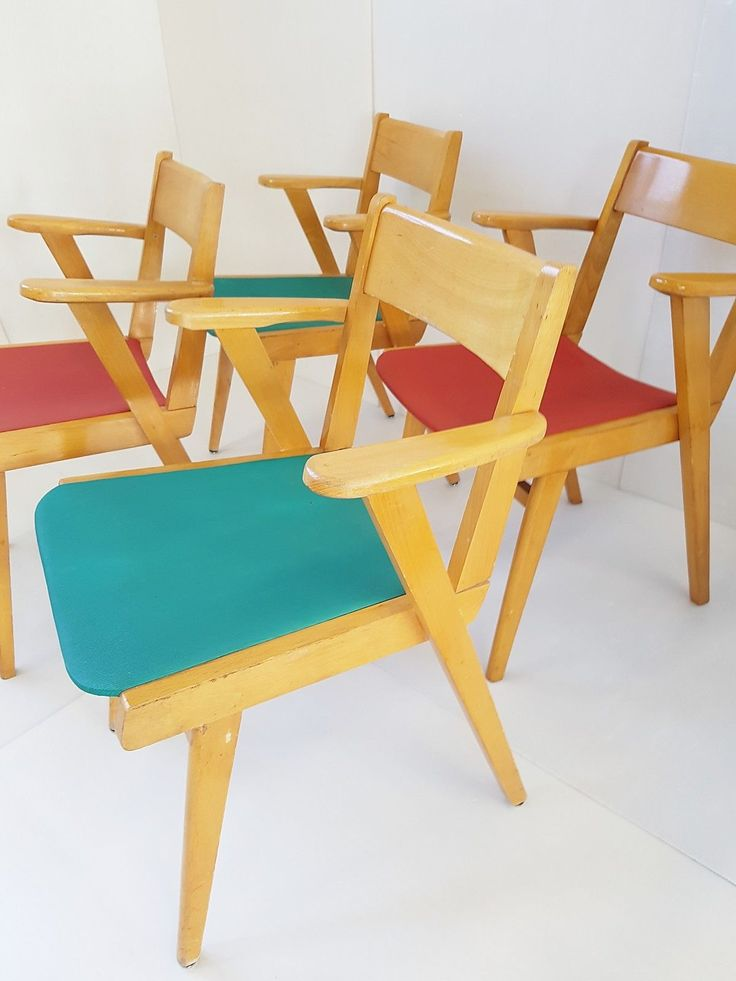 suite de 4 chaises fauteuils bridge 1950 vintage 50s zazou rockabilly chairs eur 300 - Chaise Eleven Patchwork Colors